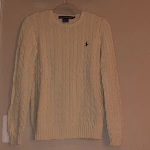 Cream Ralph Lauren Sport Cable Knit Sweater